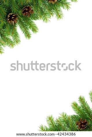 Christmas green framework - stock photo