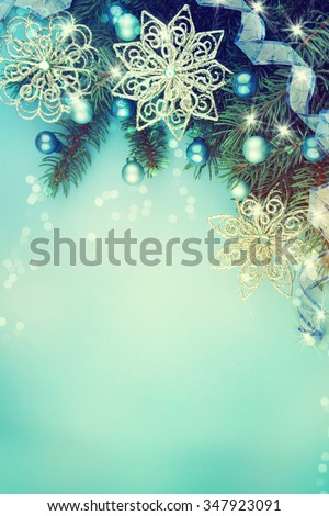 Christmas greeting card. - stock photo