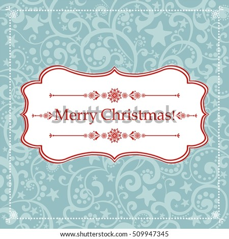 Christmas Greeting Card. Vintage background.  illustration