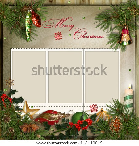 Greeting Card With Frames