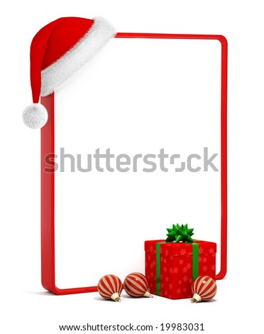 christmas greeting card with space for text - stock photo