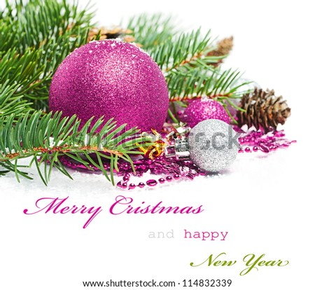 Christmas greetings card - stock photo