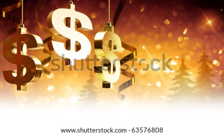 Christmas greetings for business - stock photo