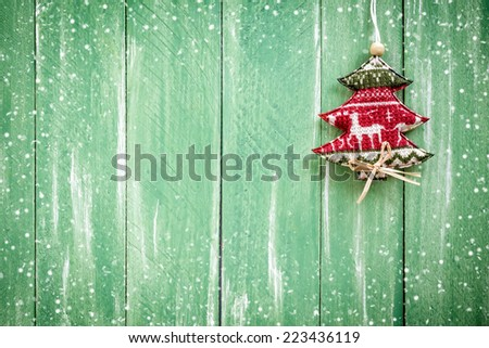 Christmas handing decoration - stock photo