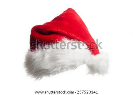 christmas hat isolated on white background - stock photo