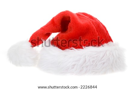 christmas hat on a flat position - nice bulk to the body so you can place it on most objects