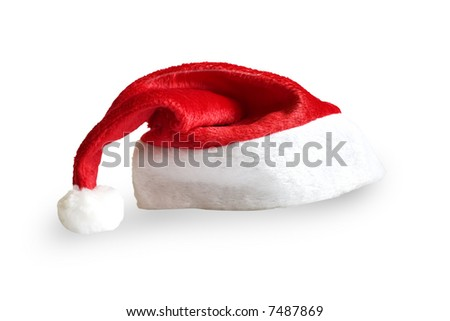 Christmas Hat (with clipping path) - stock photo