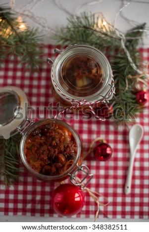 christmas herring - stock photo