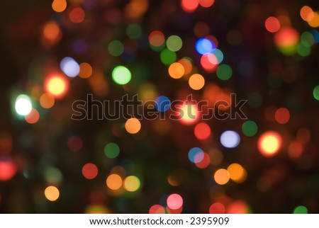 Christmas holiday lights soft focus background 11