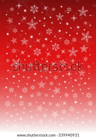 Christmas Holiday Snowflakes Festive Red Background