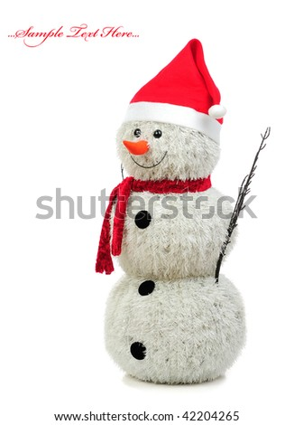 Christmas Holiday Snowman isolated on white background