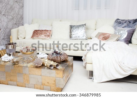 Christmas home decoration - stock photo