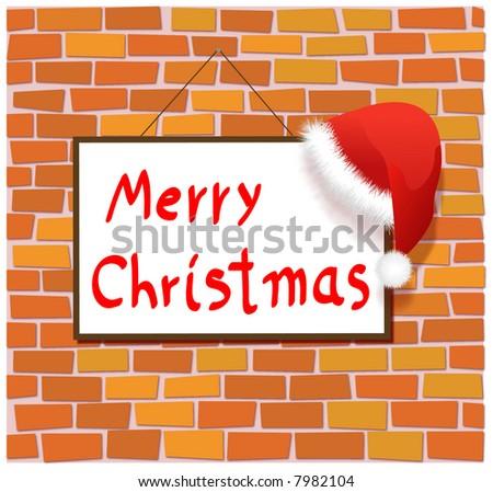 christmas illustration - stock photo