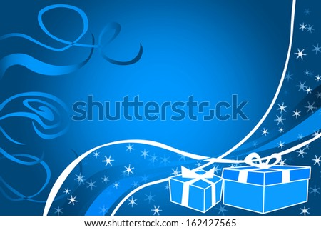 Christmas illustration with gifts box