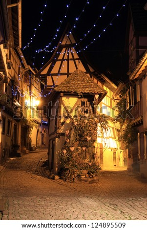 Christmas in Alsace - stock photo