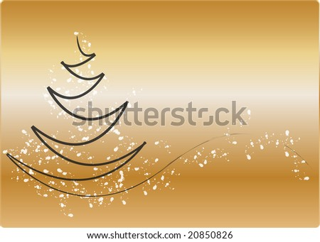 christmas in gold - stock photo