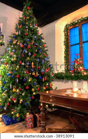 Christmas in the Country - stock photo