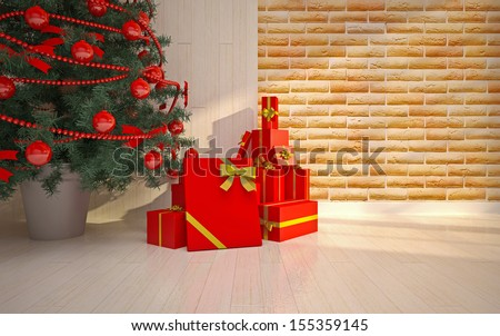 Christmas  interior details - stock photo