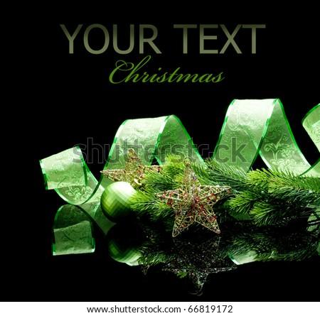 Christmas isolated on black - stock photo