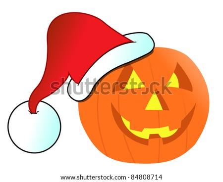 Christmas Jack-o-lantern illustration design - stock photo