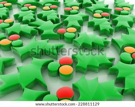 christmas leaf background stock photo - stock photo