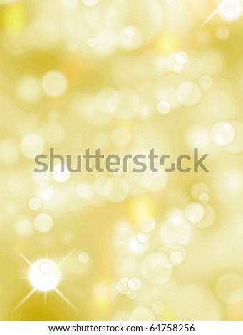 Christmas light background, Yellow and white luminous image - stock photo