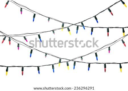 Christmas light isolated  - stock photo