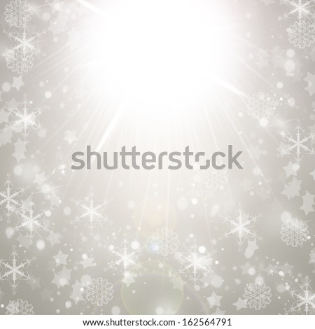Christmas Light silver background