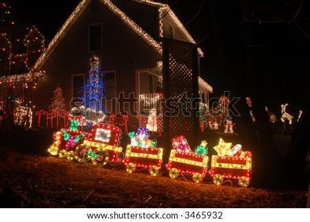 christmas light train - Christmas Light Train
