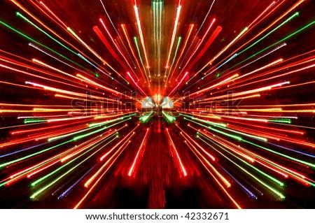 christmas light zoom - stock photo