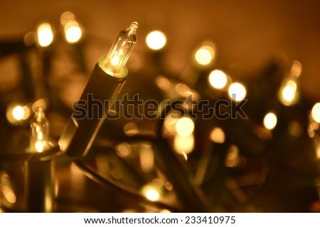 Christmas lights.  - stock photo