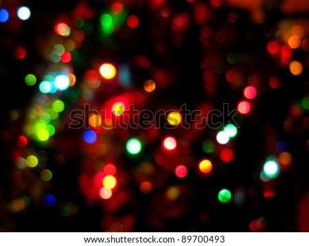 Christmas Lights 1 - stock photo