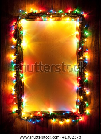 Christmas lights, abstract color background - stock photo