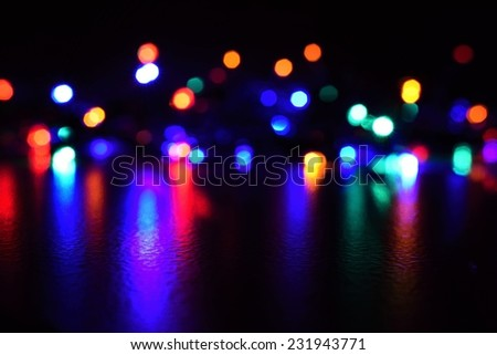 Christmas lights. Christmas lights on a pure black background. Preparing for the Holidays Christmas - stock photo