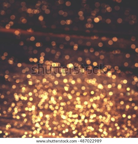 Christmas lights - Golden blurry  soft Bokeh background for your design