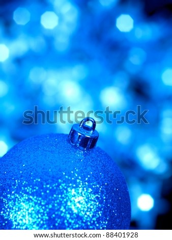 Christmas lights isolated against a black background - stock photo