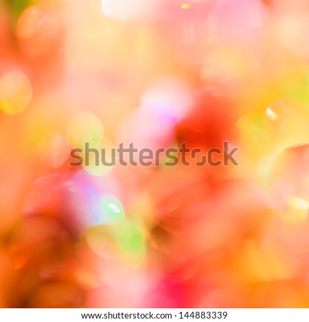 Christmas Lights Out Of Focus - stock photo