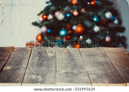 Christmas living room - stock photo
