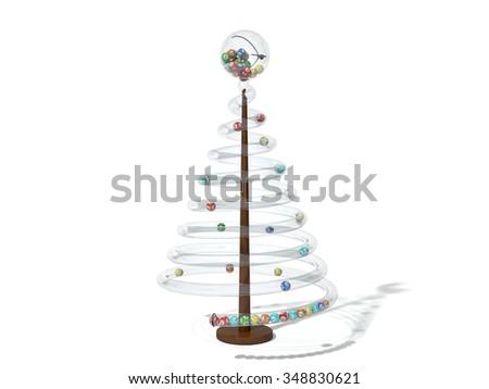Christmas lottery tree. - stock photo