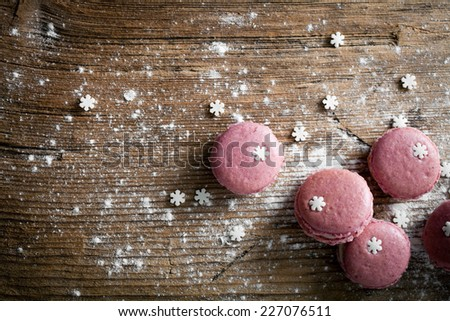 Christmas macaroons - stock photo