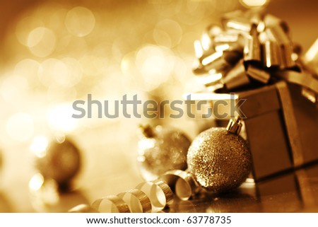 christmas macro close up - stock photo