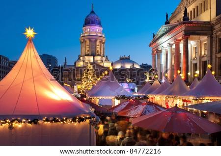 Christmas market in Berlin - stock photo