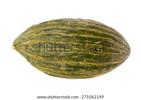 Christmas melon isolated on white