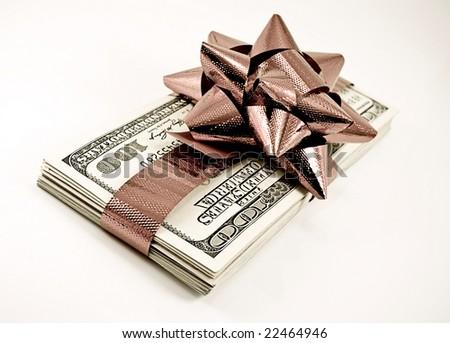 Christmas money in retro color - stock photo