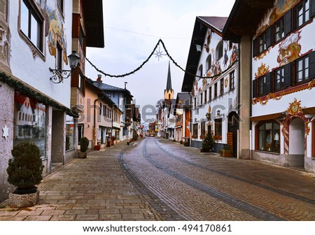 Christmas morning in Garmisch-Partenkirchen, Germany.