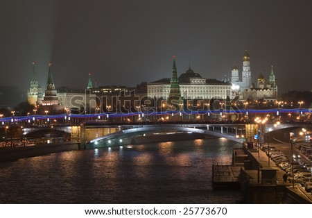Christmas Moscow - stock photo