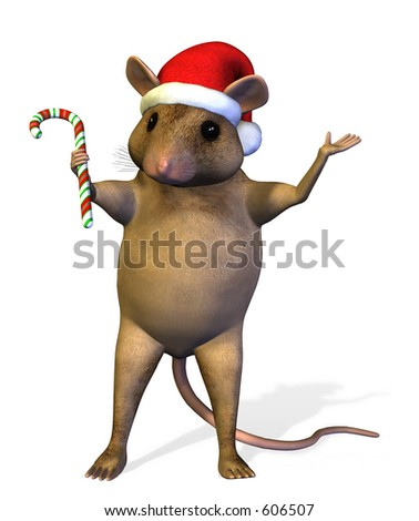 Christmas Mouse - 3D render