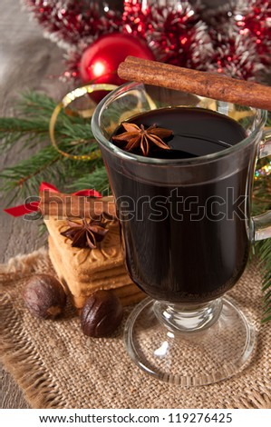 Christmas mulled wine - stock photo