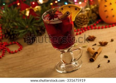 Christmas mulled wine - stock photo