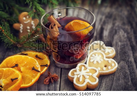 Christmas mulled wine - holiday decoration